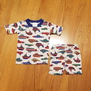 Hanna Andersson Submarine Shorts Pajamas size 100